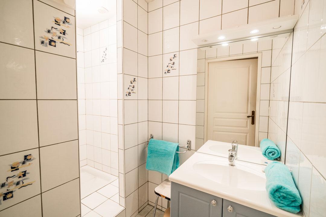 Gite le dahut, salle de bain confort wc séparés - Gites les gentianes